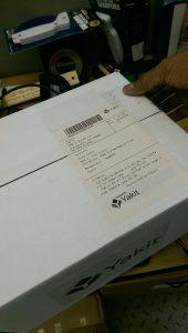 International shipment-label