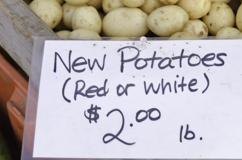 Sign at farmer's market