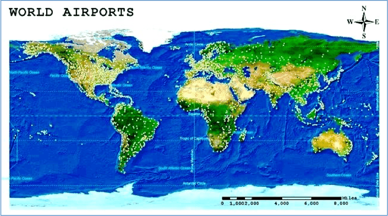 airports coverage around the world