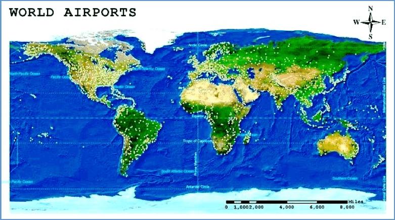 airports coverage around the world